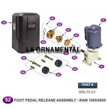 Ramset 800-75-21 Foot Pedal Release Assembly - Ram 1000/5500
