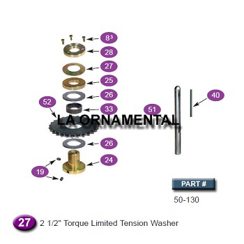 "Ramset 50-130 2 1/2"" Torque Limited Tension Washer"